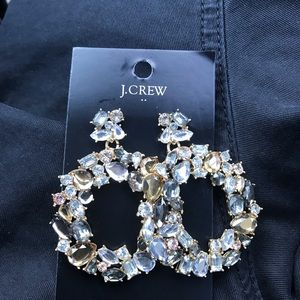 J.Crew Holiday Party Earrings NWT Silver/Gold